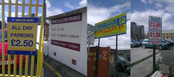 4 Car Park Signs