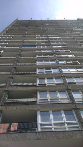 The front of Balfron Tower.