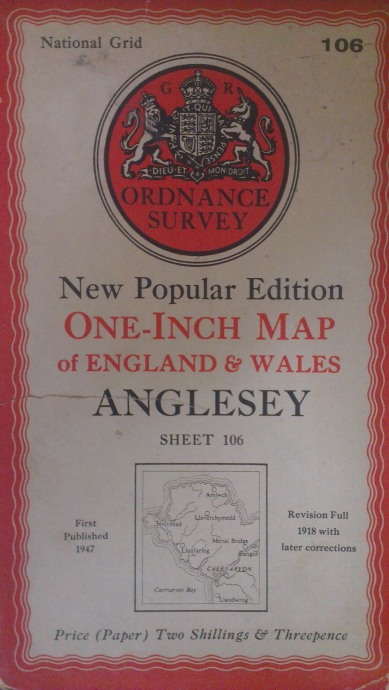 1947 OS 1 Inch Map of Anglesey