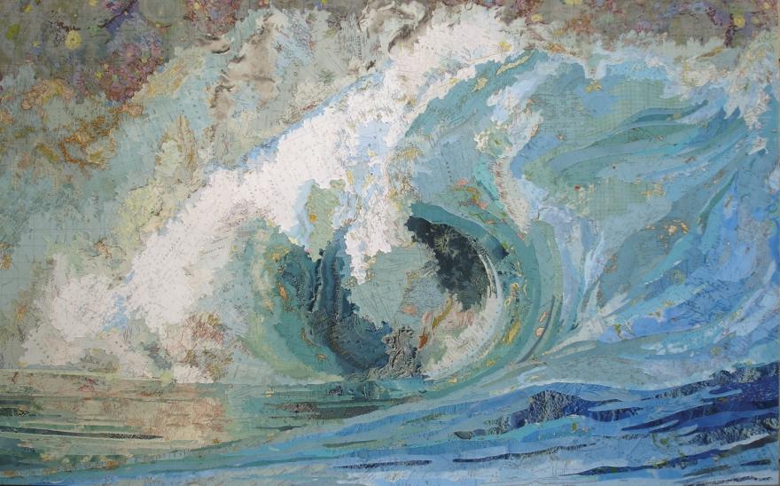 Fionas-Wave-2006-Maps-on-wood-panel-by-Matthew-Cusick
