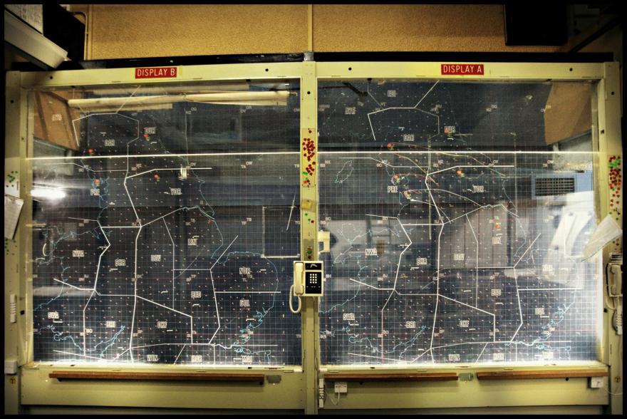 York perspex plotting map